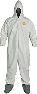 DuPont ProShield 60 Disposable Protective Coverall with Elastic Cuff, Hood and Boots, White, X-Large, 25-Pack
