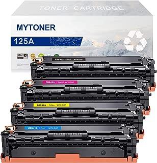 MYTONER Remanufactured Toner Cartridge Replacement for HP 125A CB540A CB541A CB542A CB543A for HP Color Laserjet CP1215 CP1518ni CP1515n CM1312nfi CM1312 MFP Printer (Black,Cyan,Magenta,Yellow)