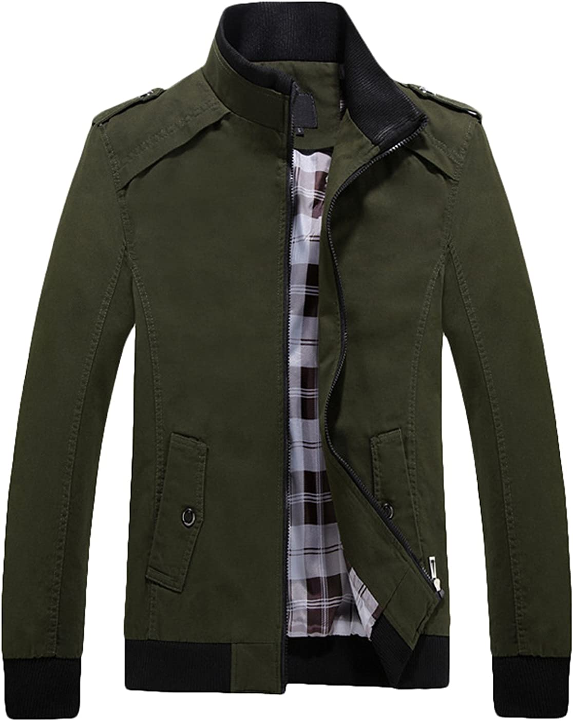 Youhan Free Shipping Cheap Bargain Gift Popular popular Men's Casual Fitted Stand Jacket with Cotton Shoul Collar