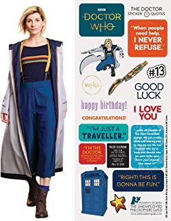 Doctor Who 13th Dr. Quotable Notable - Die Cut Silhouette Greeting Card and Sticker Sheet