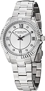 Stuhrling Original Women's Quartz Watch With White Dial Analogue Display and Silver Stainless Steel Bracelet 399L.22112