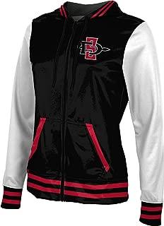 San Diego State University Women's Zipper Hoodie, School Spirit Sweatshirt (Letterman)
