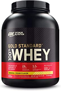 Optimum Nutrition Gold Standard 100% Whey Protein Powder, Banana - 2.27 Kilograms