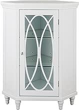 Elegant Home Fashions Corner Floor Cabinet in White