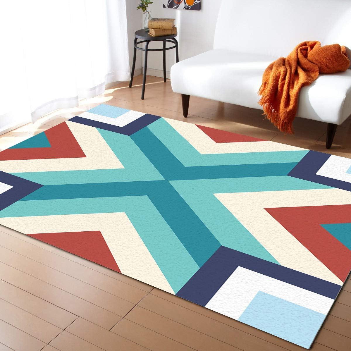 ARTSHOWING Vintage Decor Area Rug Non-Slip OFFer f Carpets Decorative half
