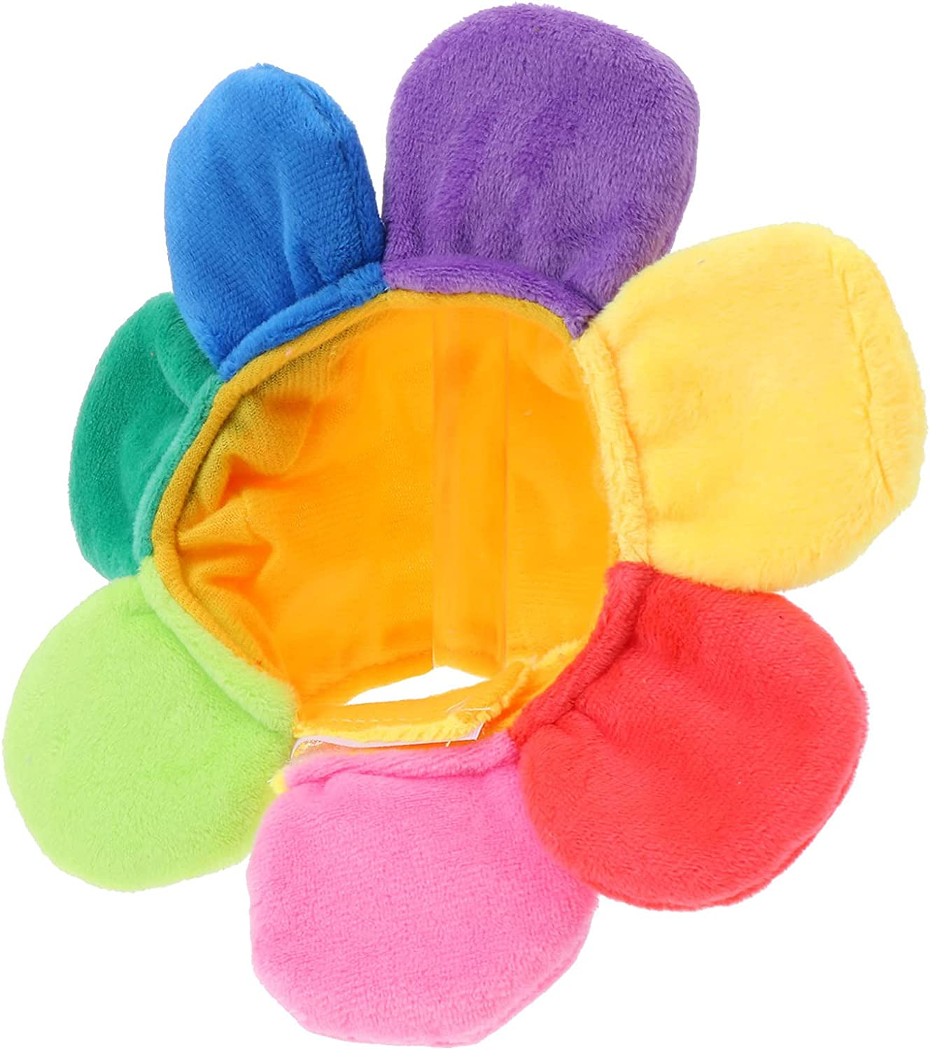 Balacoo Recovery Al sold out. Collar Pet Hat Great interest Recov Plush Sunflower Soft Shape