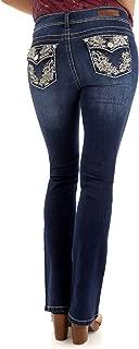 WallFlower Women's Juniors Luscious Curvy Bling Bootcut Jeans