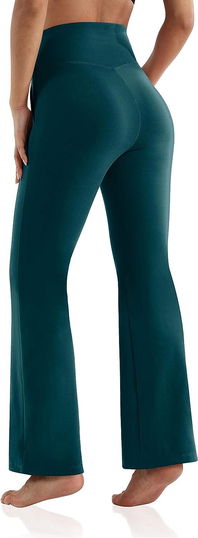 ODODOS High Waisted Bootcut Pockets Yoga Pants Workout Pants for Women Bootleg Work Pants Dress Pants