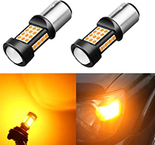 Alla Lighting 1000 Lumens 3030 36-SMD Extremely Super Bright Amber Yellow BAY15D 7528 2357NA 1157 LED Bulbs High Power LED Lights Lamps Replacement