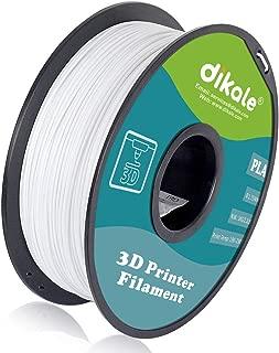 Dikale PLA 3D Printer Filament - 1KG(335m/1099ft) 1.75mm, Dimensional Accuracy +/- 0.02 mm, 1KG Spool 1.75 mm, Warm White