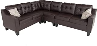 Remarkable Amazon Com Sectional Sofa 101 To 150 Inches Sofas Inzonedesignstudio Interior Chair Design Inzonedesignstudiocom
