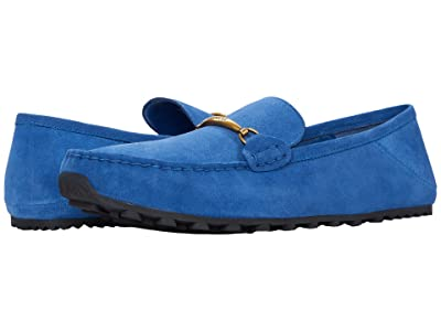 COACH Collapsible Heel Leather Driver (Bright Cobalt) Men