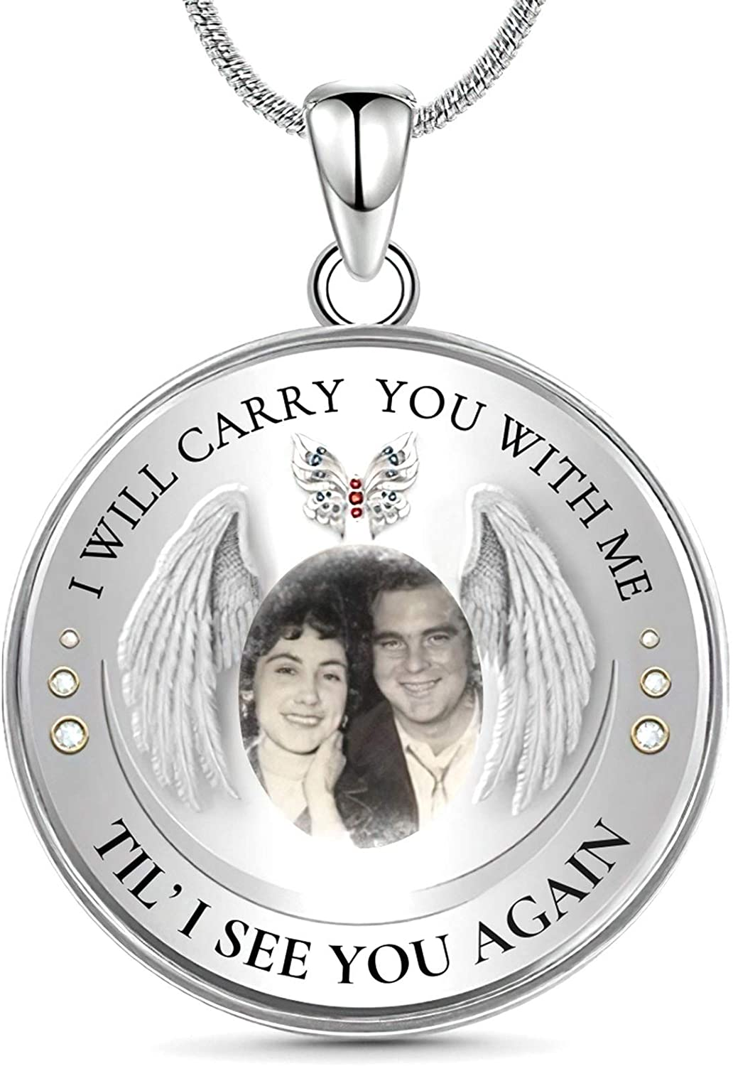 Drawelry Quantity limited Credence Personalized Photo Memorial Customized Necklace Picture