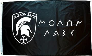 High Supply 3x5 Molon Labe Flag, Spartan Flag, Come Take it Flag, Come and Take it Flag, Patriotic Flags, 2nd Amendment Flag, Molan Labe, Greek Flag, Military Flag