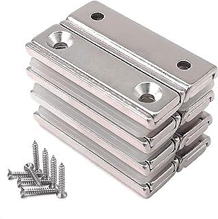 Magnetpro 8 Pack Neodymium rechthoekige magneten 40 x 13,5 x 5 mm met verzonken gat, Neodymium rechthoekige magneet voor t...