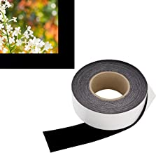 2 in x 60 ft - Vibrancy Enhancing Projector Felt Tape Border - by ConClarity – Deepest Black Ultra High Contrast Felt Tape for DIY Projector Screen Borders Absorbs Light, Brightens Image & Stops Bleed