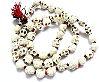 Ankita Gemstones Goddess Kali Mala, Carved Beads Mala Rosarie Indian Goddess Kali Prayer Necklace Mala