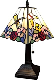 Amora Lighting Tiffany Style Mini Accent Lamp Mission 15