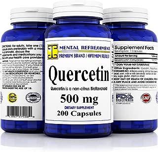 Mental Refreshment: Quercetin 500mg 200 Capsules (1 Bottle)