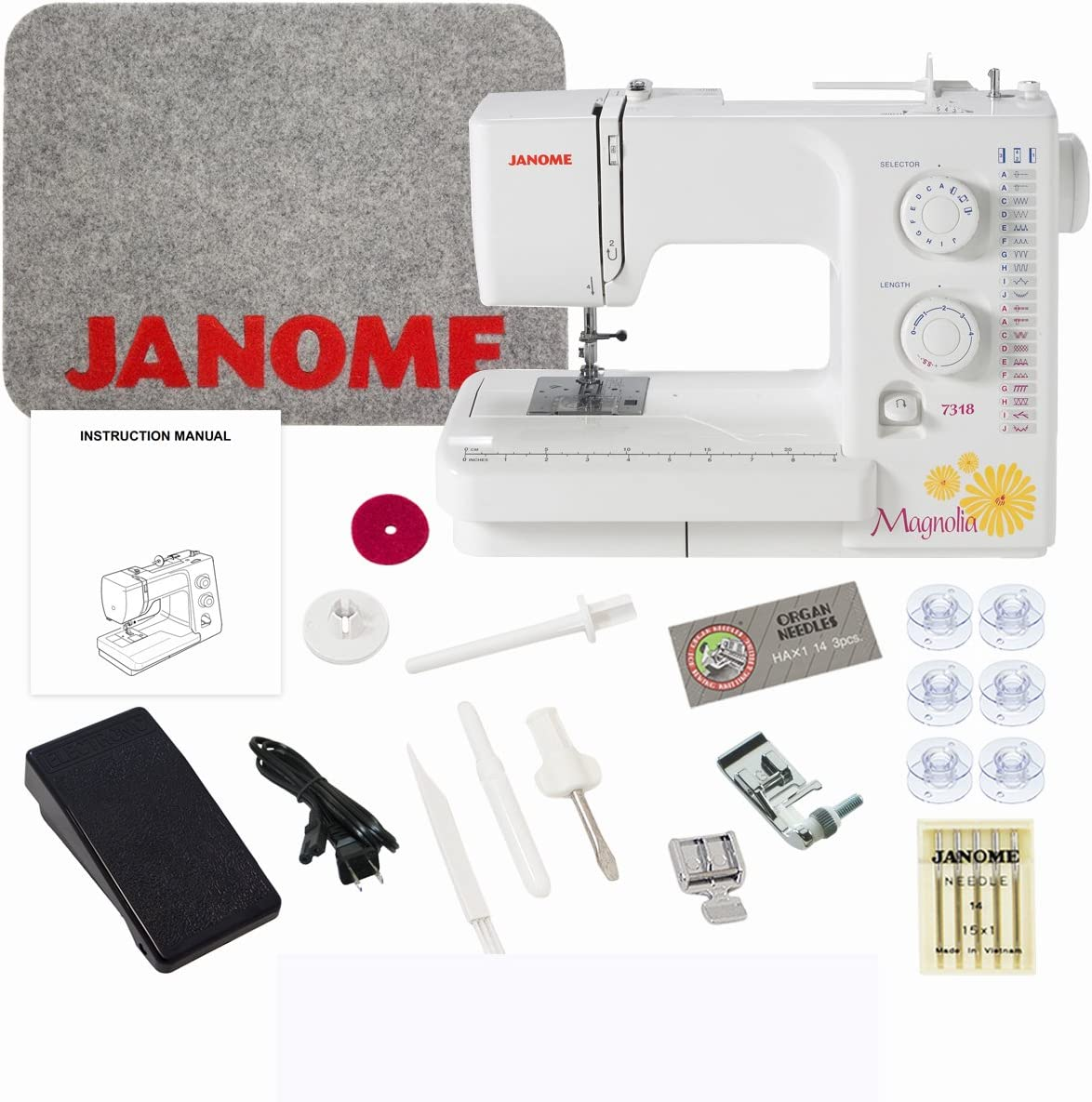 Janome Magnolia 7318 Sewing Reservation Machine National products Exclusive Bundle with