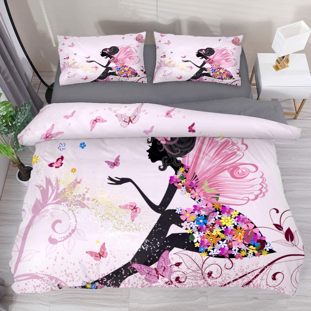 LvShen Flower Ranking TOP4 Fairy Angel Butterfly Bedding Bed Sets Full Size C Import