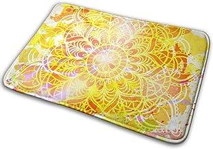 Door Mats Watercolor Card with Mandala Floor Mat Indoor Outdoor Entrance Bathroom Doormat Non Slip Washable Welcome Mats D...