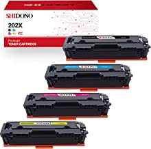 Shidono Compatible Toner Cartridge Replacement for HP 202X 202A Fits with Laserjet Pro MFP M281fdw/M281cdw/M281fdn/M280nw/M254dw/M254dn/M254nw/M281dw Printer,[4-Pack,Black/Cyan/Yellow/Magenta]
