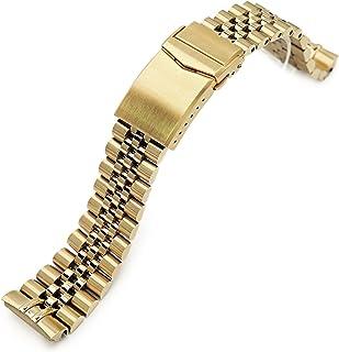 MiLTAT, cinturino per orologio da polso 22 mm, Full IP, compatibile con Seiko New Turtles srpc44, super j Louis Jub 316l ss