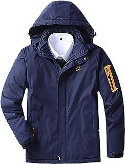 GAOXIAOMEI Men's Ski Jacket Thickening Men's Mountain Hiking Snowboard Jacket Waterproof Windproof Fleece Lined Outdoor Ho...