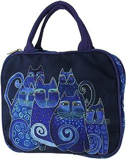 Laurel Burch Indigo Cats Cosmetic Travel Tote (Indigo Cats)