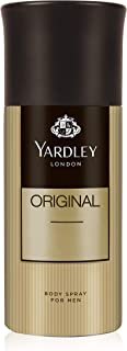 Yardley Original Body Spray For Men, Fresh fragrance for masculine elegance, 150 ml