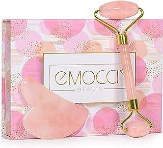 comprar comparacion Rodillo De Jade Roller Face - Herramienta de masaje de cuarzo rosa para chica, nueva versión, rejuvenece la piedra natural...