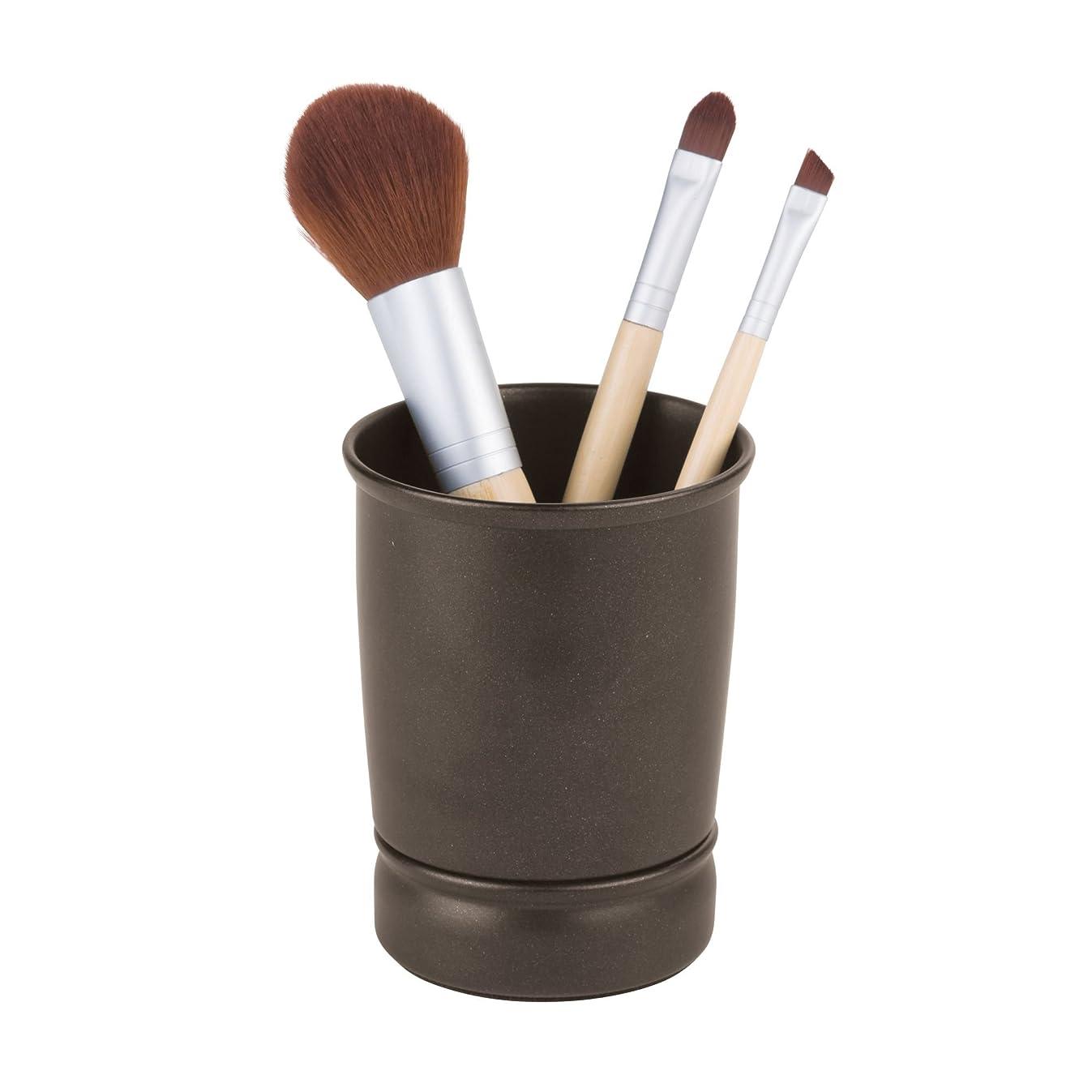 InterDesign York Metal Tumbler, Makeup Brush Toothbrush Holder for Bathroom, Countertop, Desk, Dorm, College, and Vanity, 3.25