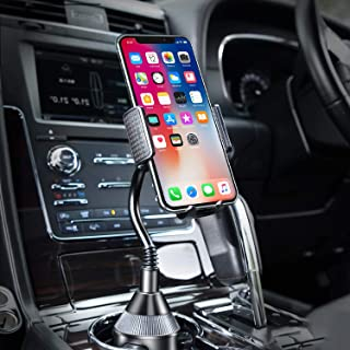 Cup Holder Phone Mount Universal Adjustable Gooseneck Cup Holder Cradle Car Mount for Cell Phone iPhone Xs/XS Max/X/8/7 Plus/Galaxy