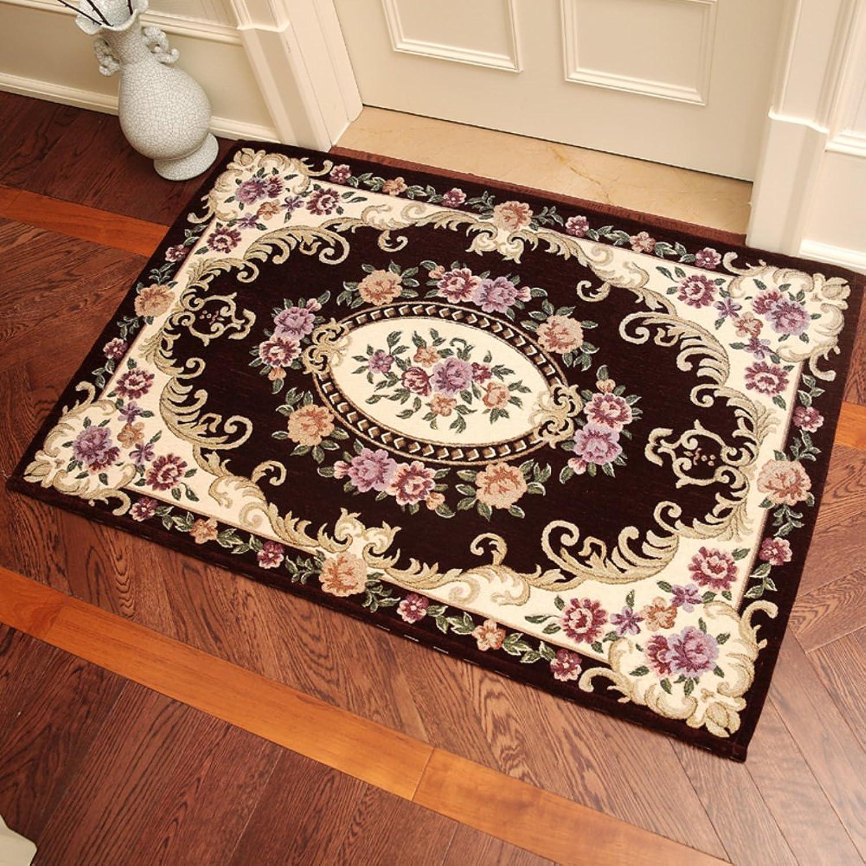 European-style door mats Doormat Door Living room [hall] Bedroom door carpet Non-slip mats-K 70x140cm(28x55inch)