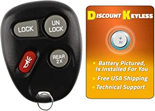 Discount Keyless Replacement Key Fob Car Remote Compatible with ABO1502T, 16245100-29, 16245100