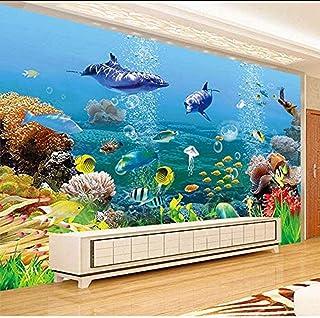 Accessoires de vie murale pour murs Monde sous-marin Chambre d'enfants Salon Papiers peints Décor à la maison Sala 3D Gris...