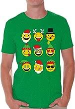 Awkward Styles Christmas Emojis Tshirt for Men Funny Emoji Ugly Christmas Tshirt