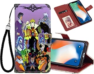 DISNEY COLLECTION Disney Villains Wallet Case with Kickstand Compatible for Apple iPhone X (2017)   iPhone Xs (2018)   iPhone 10 (2017) 5.8in Nice