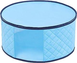 アストロ 収納ケース 帽子用 ライトブルー 帽子収納袋 不織布 防ダニ 吸湿 除湿 透明窓付き 616-21 大