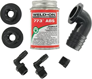 Valterra RK907 90° Barbed Elbow ABS Tank Fill Kit with Cement