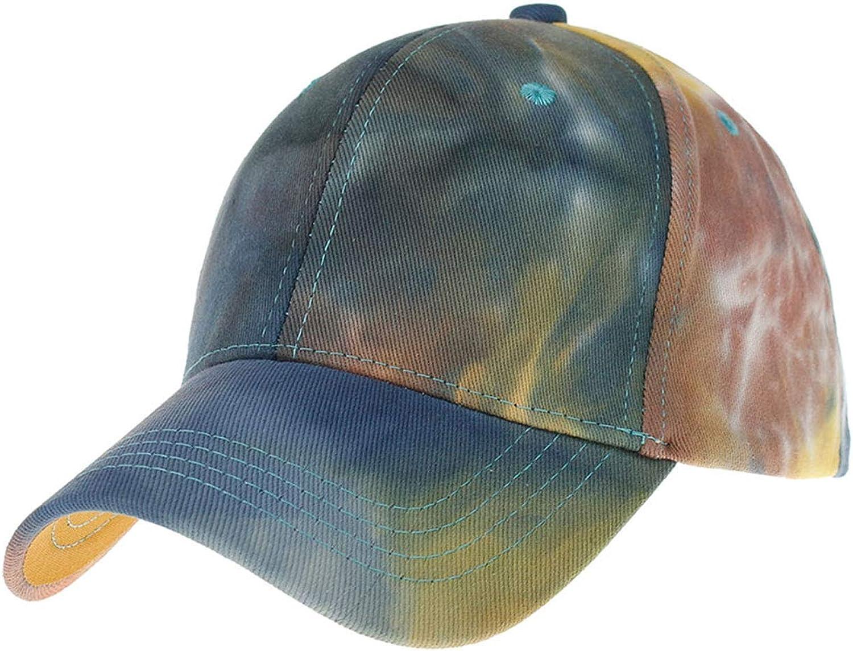 Zando Women Summer Tie-Dyed Baseball Cap Outdoor Peaked Cap Travel Hats Sun Hats Ponytail Hats for Women Beach Hats