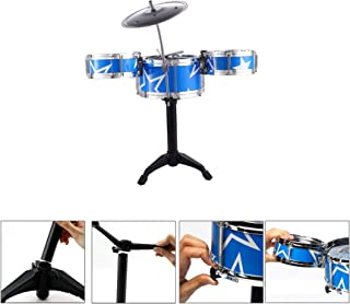 Blossom (7-Piece Set) Jazz Drum Set Percussion Instrument Musical Toys with Cymbal for Kids / Music Learning Drums for Childrens (Random Color)