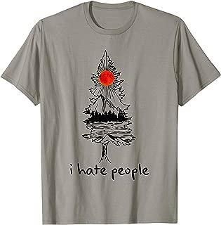 I Hate People Tree Sun Mountain And Mountain T-Shirt