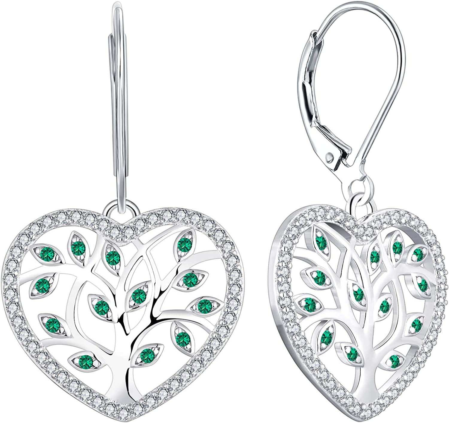 YL Tree Sales Necklace 925 Ranking TOP18 Sterling Created Silver Sapphire Emerald Ga