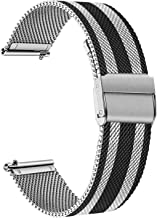 TRUMiRR Band for Samsung Galaxy Watch 46mm / Gear S3 Classic Frontier, TRUMiRR 22mm Mesh Woven Stainless Steel Watchband Quick Release Strap for Fossil Men's Gen 4 Explorist HR/TicWatch Pro
