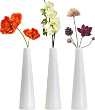 Tall Conic Composite Plastics Flower Vase, Small Bud Decorative Floral Vase Home Decor Centerpieces, Arranging Bouquets, C...