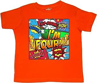 I'm Four Comic Book Toddler T-Shirt 29f39