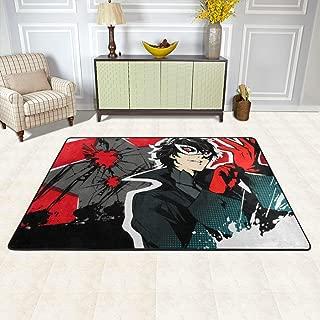 Angela R Mathews Persona 5-Joker The Show's Over Non-Slip Carpet Area Rug Modern Flannel Microfiber Anime/Cartoon Rectangle Carpet Decor Floor Rug Living Room,Bedroom,Study Floor Mat 6' X 4'