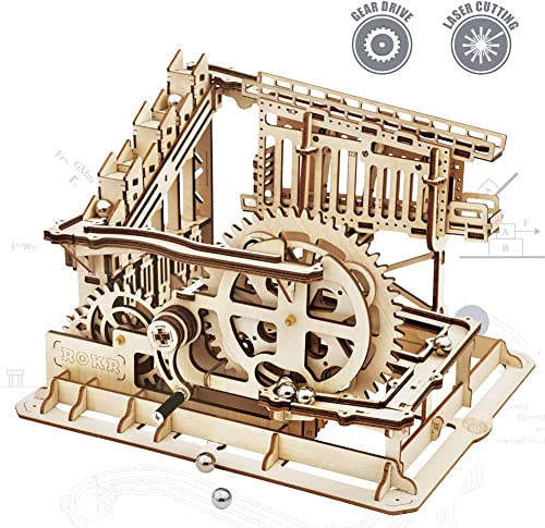 high quality ROKR 3D Wooden Puzzle Mechanical Gears Set DIY 2021 Assembly Model Kits Wooden Craft Kits Brain Teaser Games Building Set Best popular Christmas Birthday Gift for Adults & Kids Age 14+(LG502-Cog Coaster) online